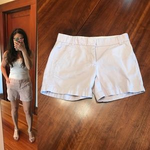 J. Crew Broken In Chino shorts in pale mauve